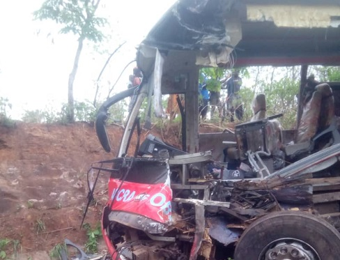 More than 6o perish with 40 others in critical condition following a collision involving two buses near Kintampo