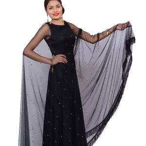 Black Net Gown