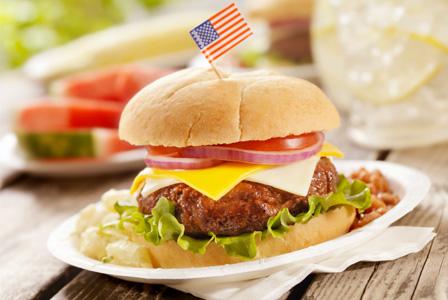 hamburger-american-flag