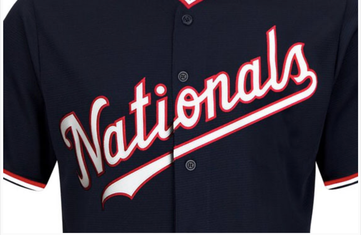 washington nationals jersey