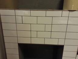 Ensure tiling patterns don't look like a botched job! Choose a pattern and stick to it!