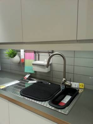 Overhead cabinets should be installed at a minimum of 600mm above your benchtop. These overheads are almost touching the tap!