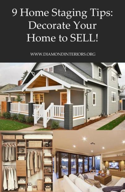 9 Home Staging Tips_Decorate your home to sell by Diamond Interiors