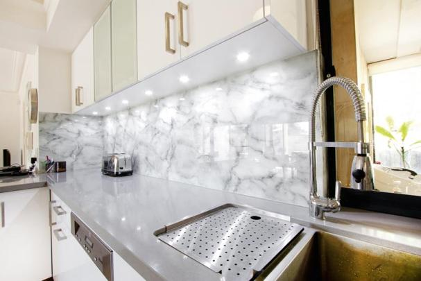Glass Marble Splashback