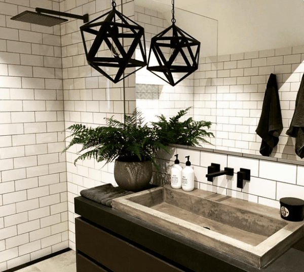 Black tapware bathroom