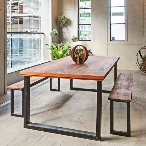 furniture shopping - industrial-style-dining-table