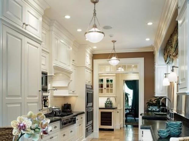 white-high-gloss-galley-style-kitchen