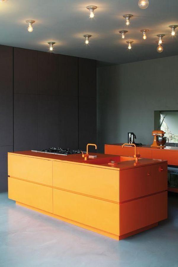 Orange Kitchen - Top 5 Colourful Kitchens - Diamond Interiors Blog