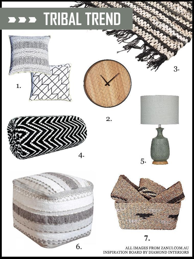 Tribal Inspiration Board_Blog by Diamond Interiors