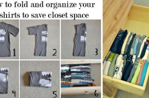 Maximise Your Wardrobe Space - folding techiques