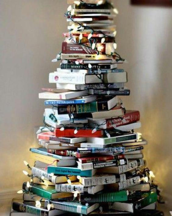 Top 6 Alternative Christmas Tree Ideas - Bookish Style