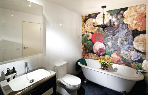 bathroom feature wall mosaic tiles