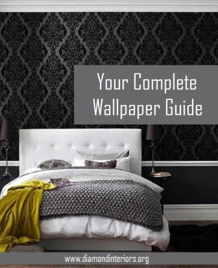 wallpaper feature wall bedroom