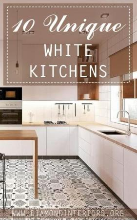 10 unique white kitchens