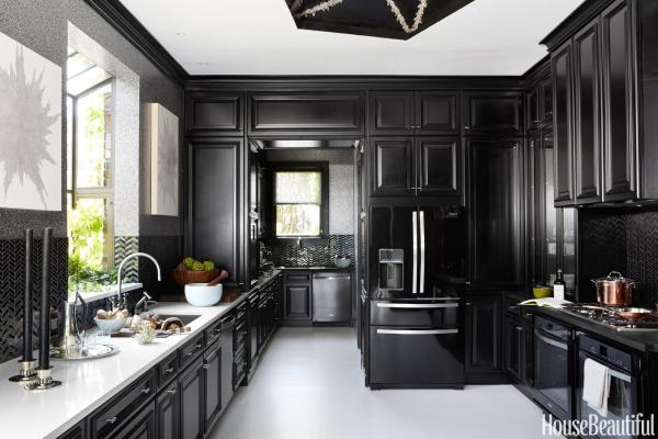 all black kitchen style