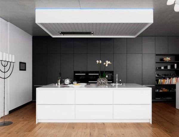 modern kitchen ideas - black and white kitchen