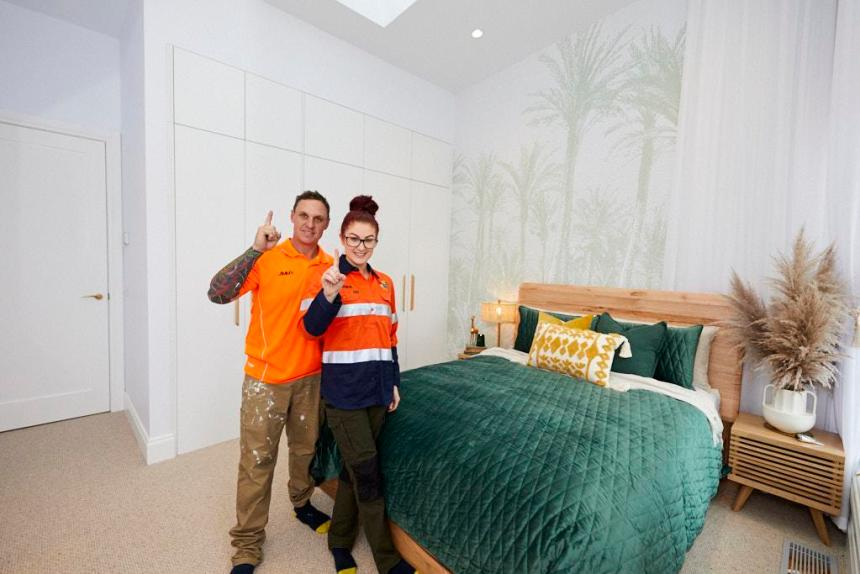 Jimmy and Tam The Block 2020 Guest Bedroom