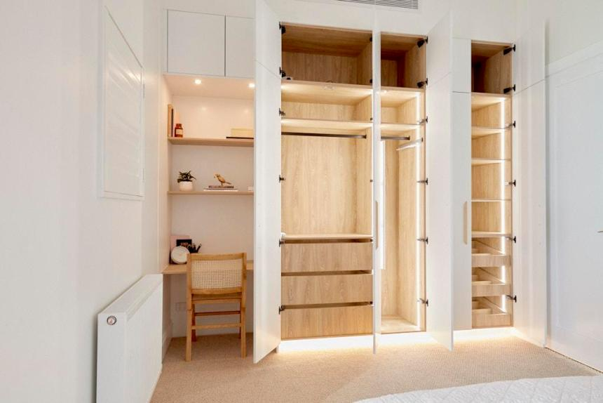 Jimmy & Tam The Block 2020 - Bedroom Wardrobe Design