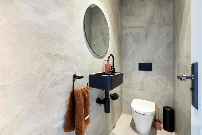 Sarah & George The Block 2020 - Powder Room Design