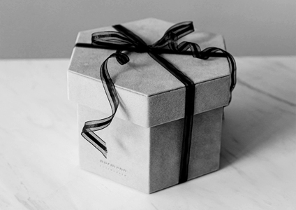 gift in black and white