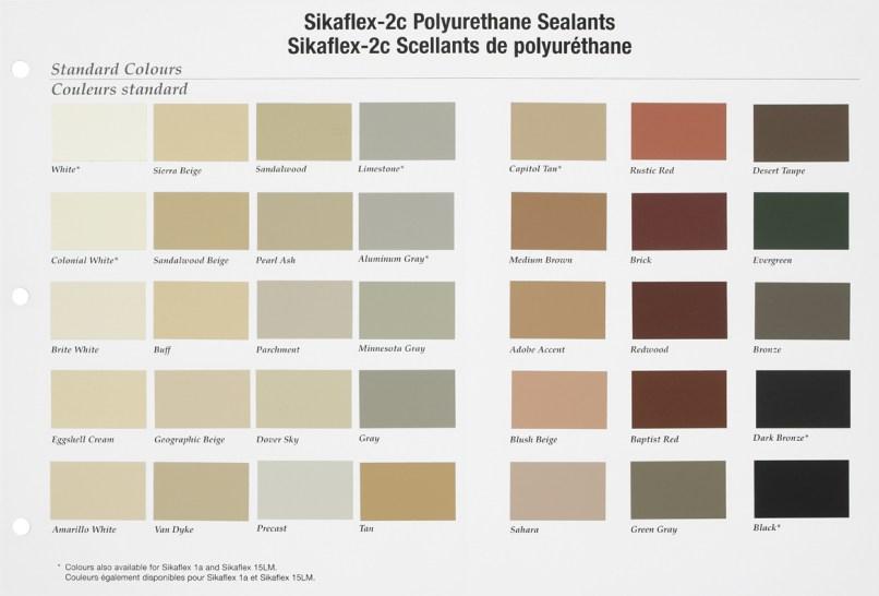 sikaflex polyurethane sealant color chart | mountainstyle co