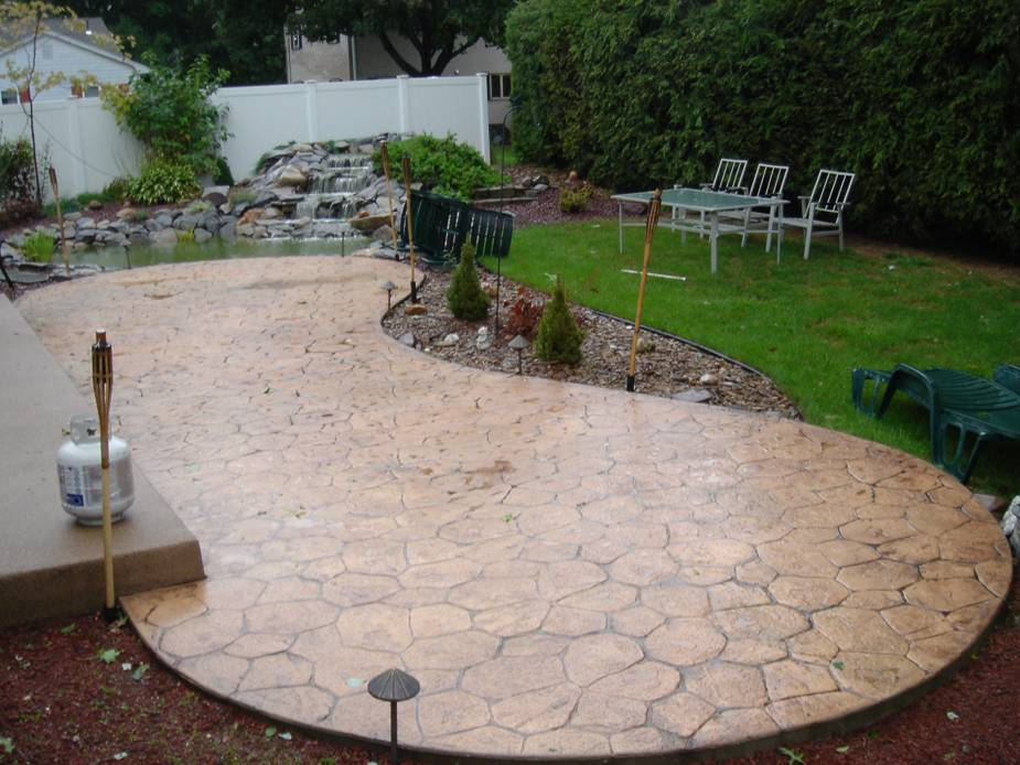 Stamped Concrete Restoration In Connecticut Massachusetts