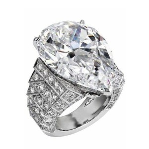 15.12Ct Pear Cut Cocktail Party Ring inspired 925 Sterling silver
