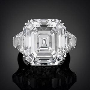 Asscher-Cut CZ Golconda Diamond Ring 22  Carats