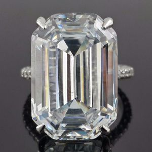 Emerald Cut Celebrity Inspired Ring
