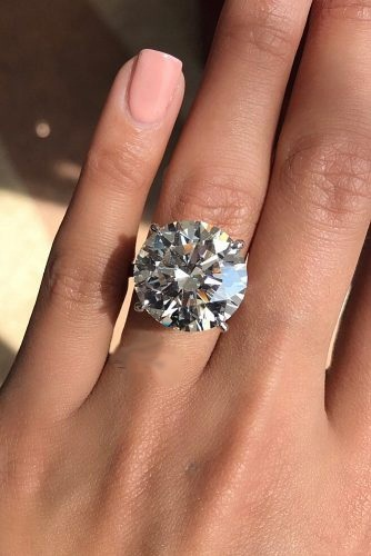 3.50Ct Big Round Cut Moissanite Diamond Engagement Ring ...