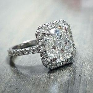 3.Ct Forever Radiant Cut White Moissanite Engagement & Wedding Ring 925 Sterling Silver