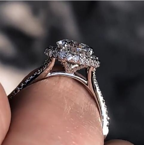 2.80Ct Round Black Diamond Skull Ring Engagement Wedding Ring 14K White Gold