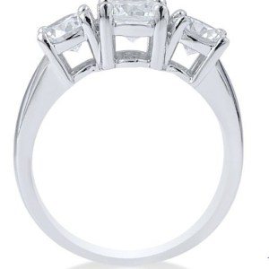 3 Stone 1.85Ct Round Cut Diamond Engagement Anniversary Ring 925 Sterling Silver