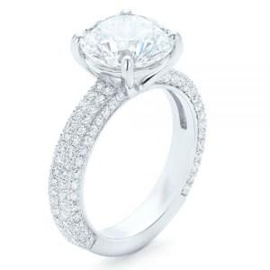 2.34Ct Brilliant Cut Diamond 2 Shank Bridal Engagement Ring In 14k White Gold