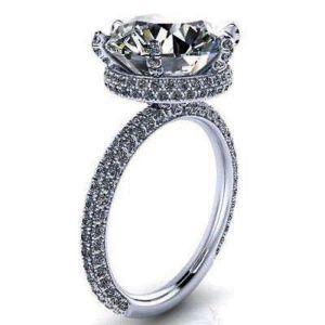 5.30Ct Big White Round Cut Diamond Engagement Wedding Ring 925 Sterling Silver