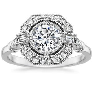 Forever 2.07Ct Bezel White Diamond Bridal Engagement Ring 925 Sterling Silver