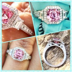 2.10Ct Asscher Cut Light Pink Diamond Engagement Wedding Ring In 14k White Gold