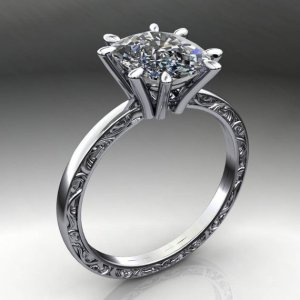 1.88Ct Forever Round Cut Moissanite Best Engagement Ring Real 14k White Gold Over