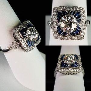 Unique 1.83Ct Round Cut Moissanite Bezel Set Wedding Engagement Ring Solid 14k White Gold