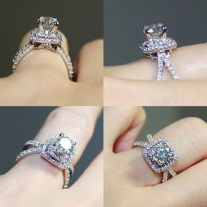 1.20Ct Round Cut Brilliant Moissanite Solitaire Engagement Ring 14k White Gold Over