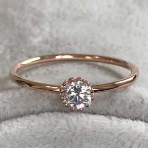 1.20 Carat Brilliant Moissanite Diamond Fancy Simple Engagement Ring 14k Rose Gold Over
