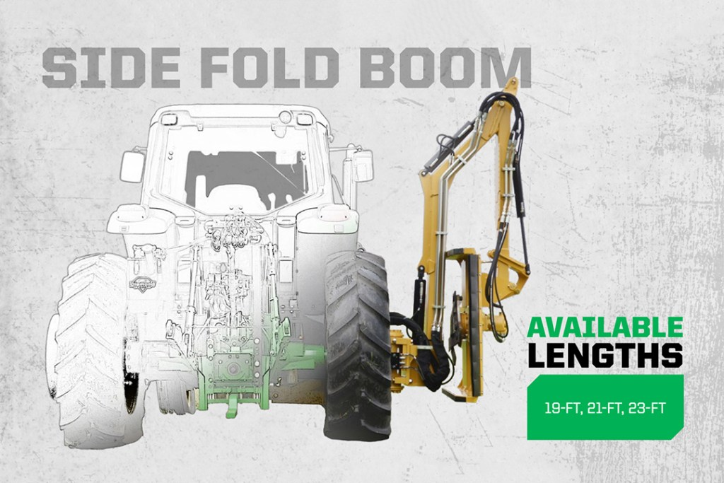 Side Fold Boom in 19ft, 21ft, or 23ft lengths