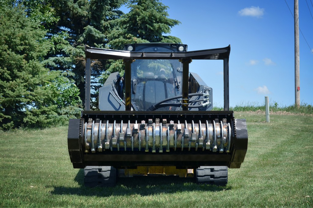 Skid-Steer Drum Mulcher