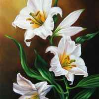 Lily Flowers Diamond Painting Kit