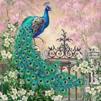 Green Peacock Diamond Painting Kit