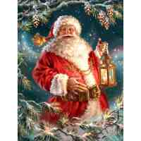 Evening Santa Diamond Painting Kit
