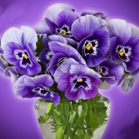 Purple Bouquet Diamond Painting Kit
