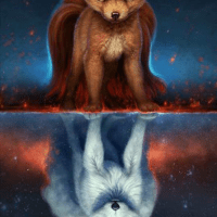 Double Fox Diamond Painting Kit
