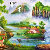 Scenic Falls Diamond Painting Kit