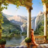 Classical Waterfall Diamond Painting Kit
